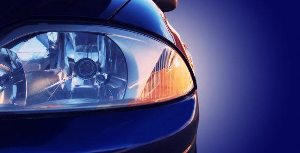 Blaues Auto - Nahaufnahme