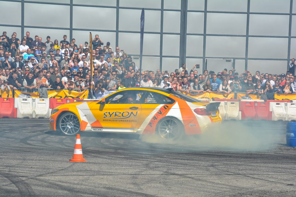 Driftshow bei Events im Motorsport