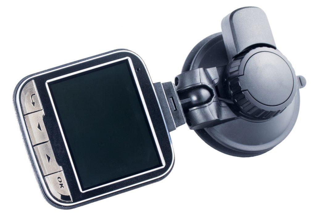 Auto Dashcam auf weißem Hintergrund