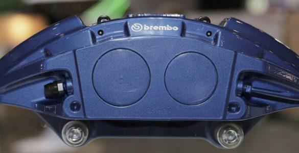 """Zu sehen ist das Konzept """"Flexira"""" von Brembo in blau"""