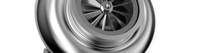 Bild eines Turboladers auf weißem Hintergrund