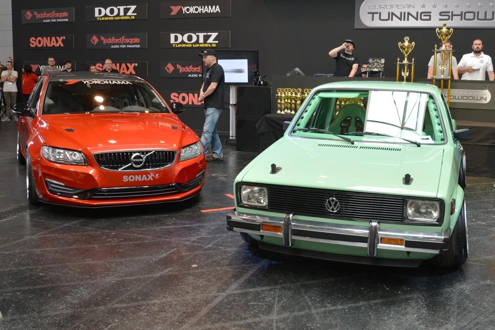 Volvo V70 und VW Caddy V8 bei der Siegerehrung beim ETS 2018
